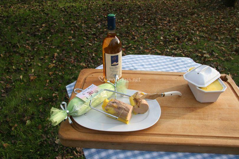 Foie gras mi-cuit entier maison
