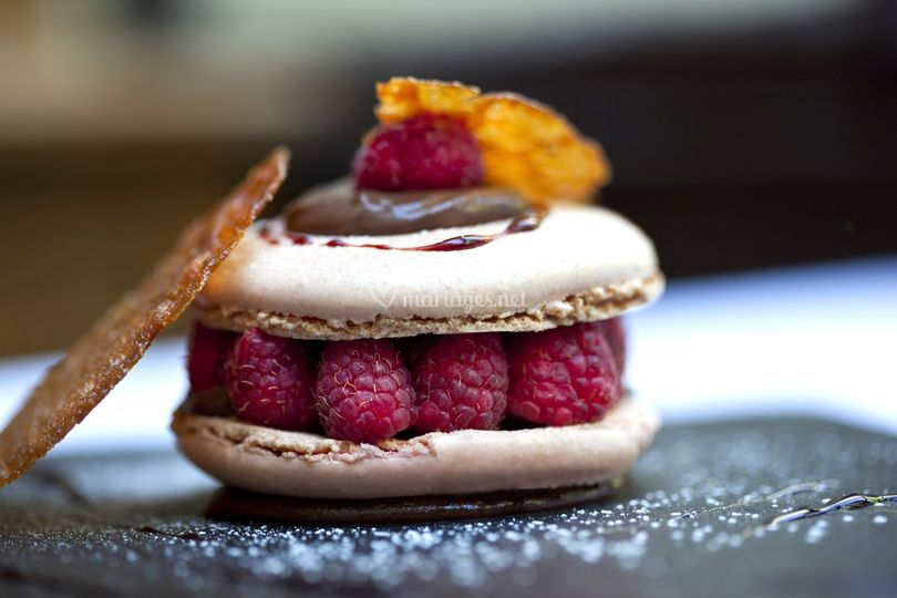 Macaron framboise & rose