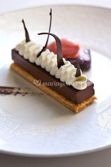 Croquant chocolat noir/praliné