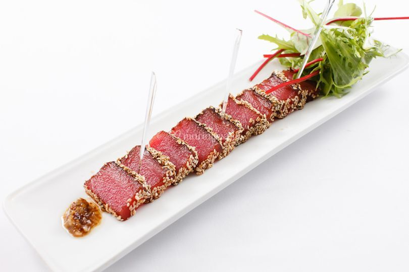 Tataky de thon rouge en croûte