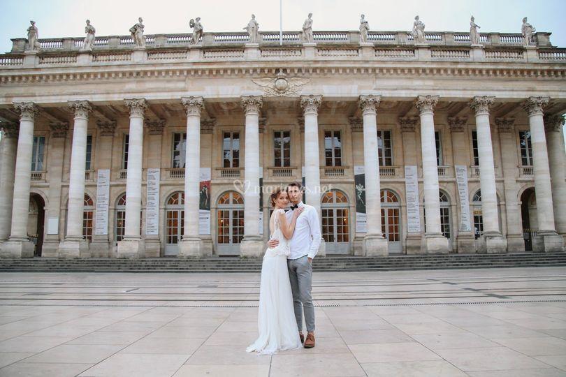 Couple près du Grand Theatre