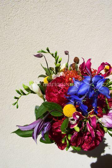 Bouquet de mariée pop