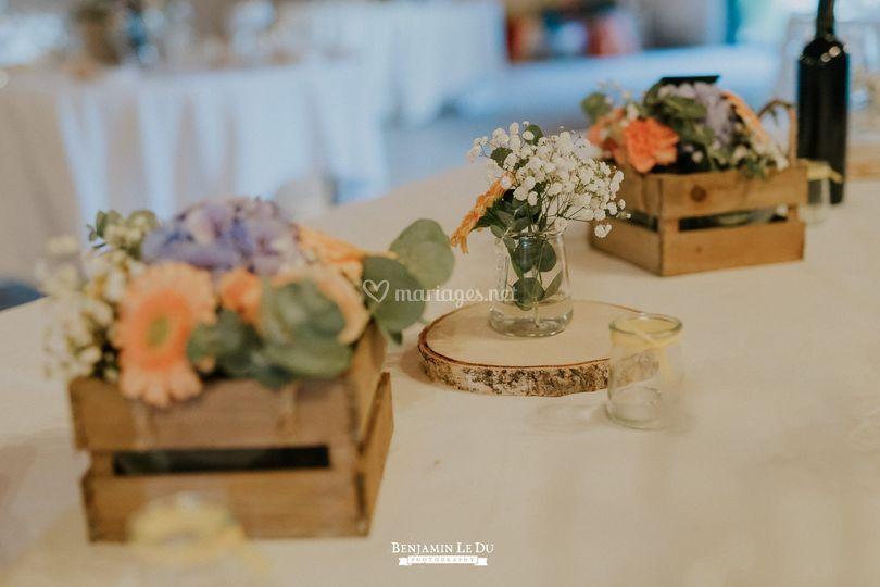 Mariage champêtre pastel