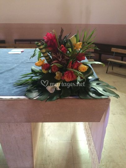 Compo florale église