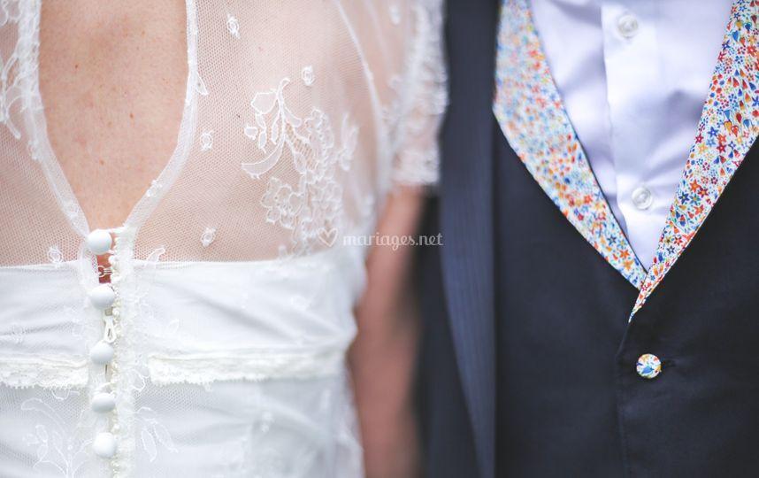 Photo des mariés et détails
