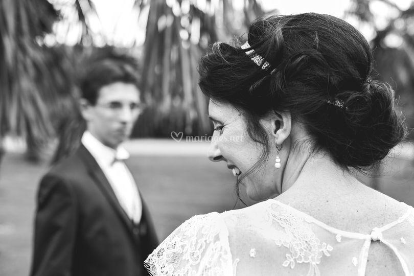 Mariage, photo noir et blanc