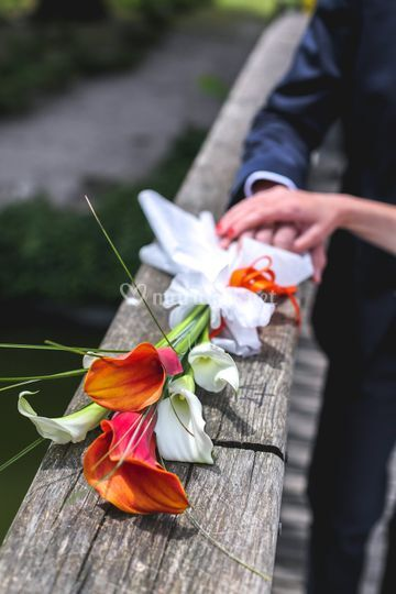 Mariage, photo de bouquet