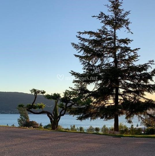 Vue Lac jardins