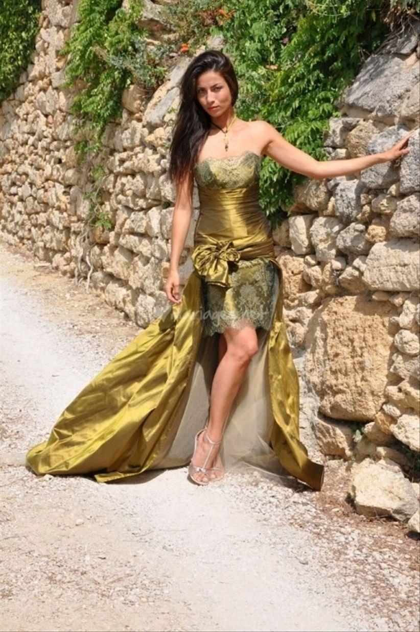Robe de mariee vert olive