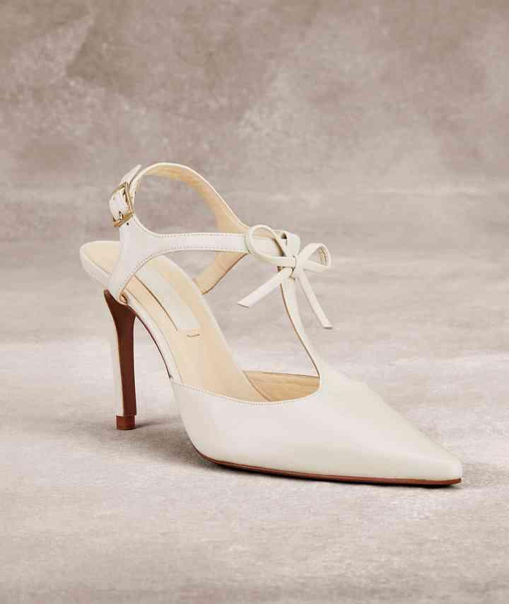 Chaussures de mariage Art déco inspiré Peep Toe Wedge