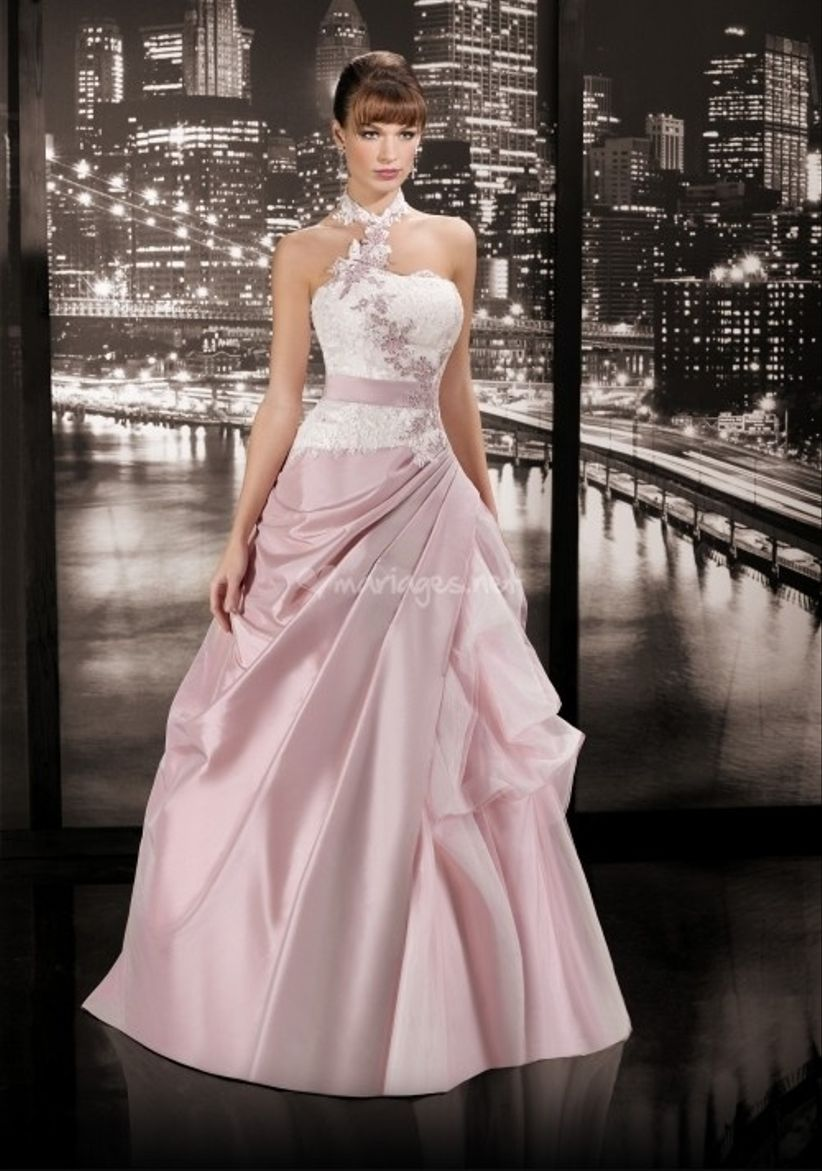 10 robes de mari e roses 2014 for La couleur rose pale