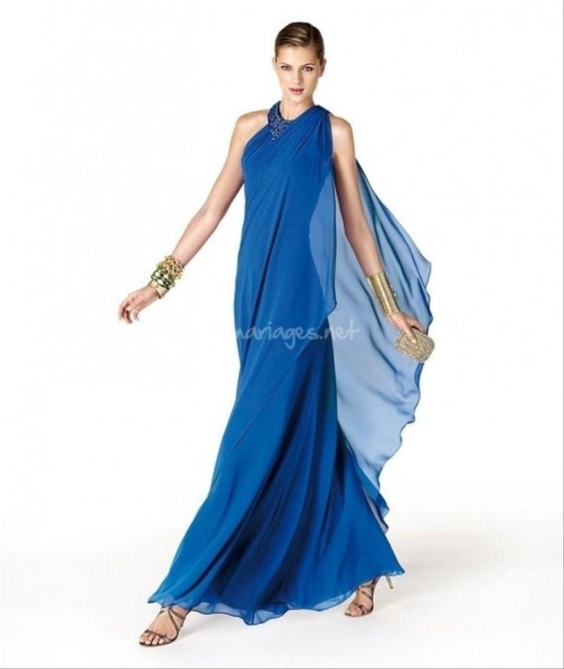 le modle bleu azur de mori lee vu prcdemment forme longue cette fois qui pourra se combiner avec un bolro la mi saison - Robe Bleu Electrique Mariage