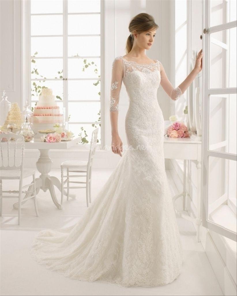 robes de mari e avec manches trois quarts