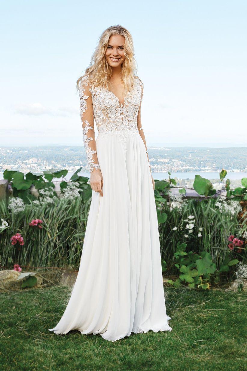 a5b056a75ae 4 styles de robes de mariée à manches longues