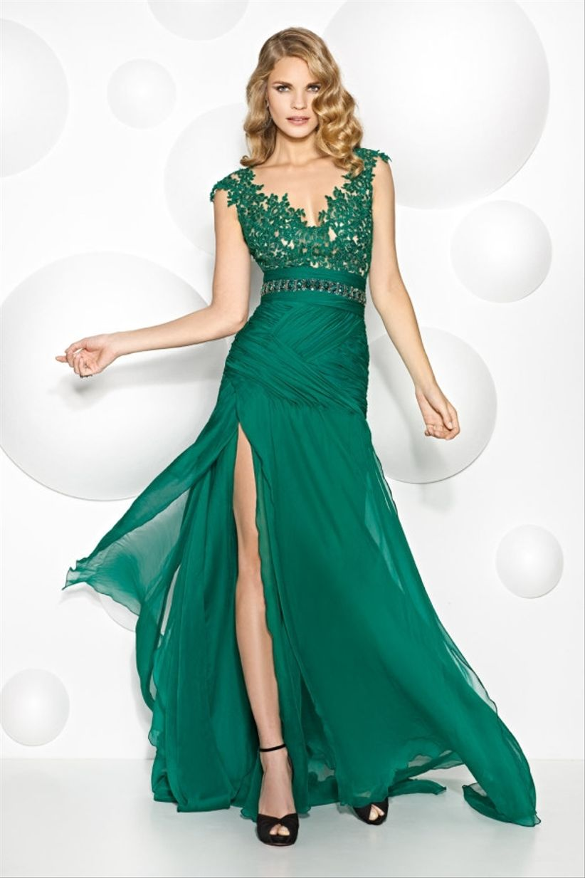 Robe de soiree pour mariage verte