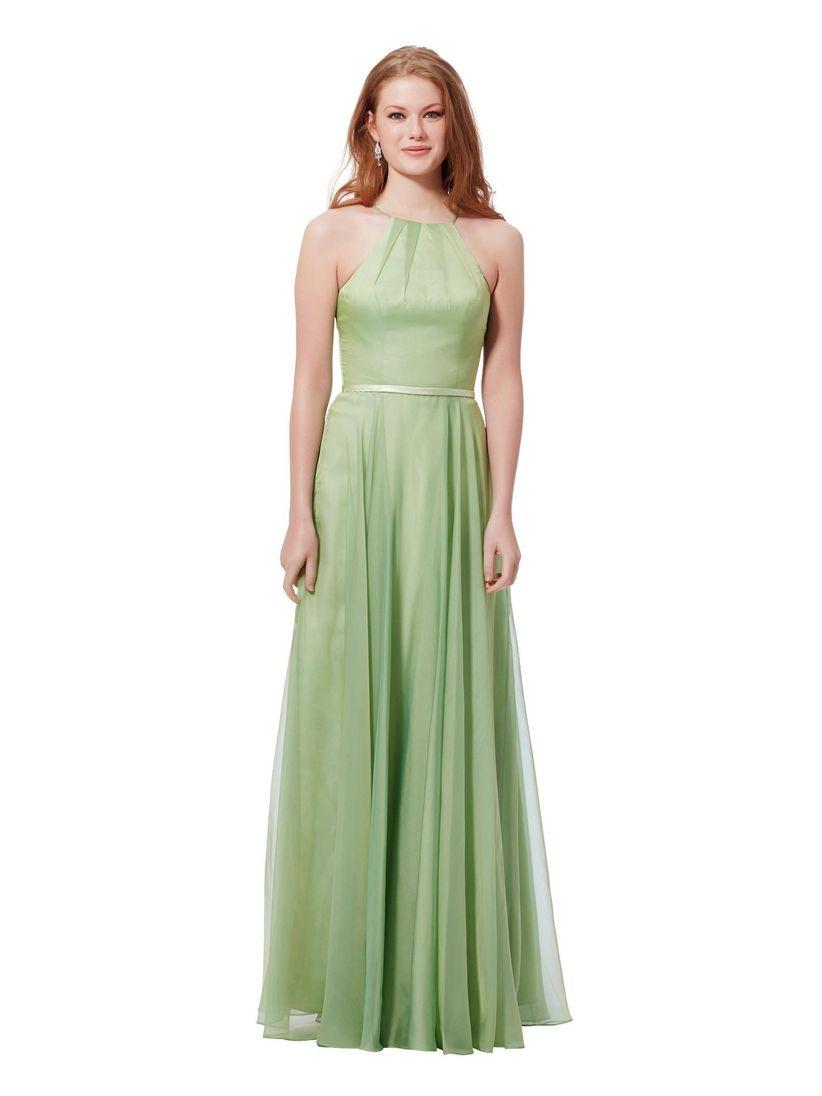 Robe soiree vert amande