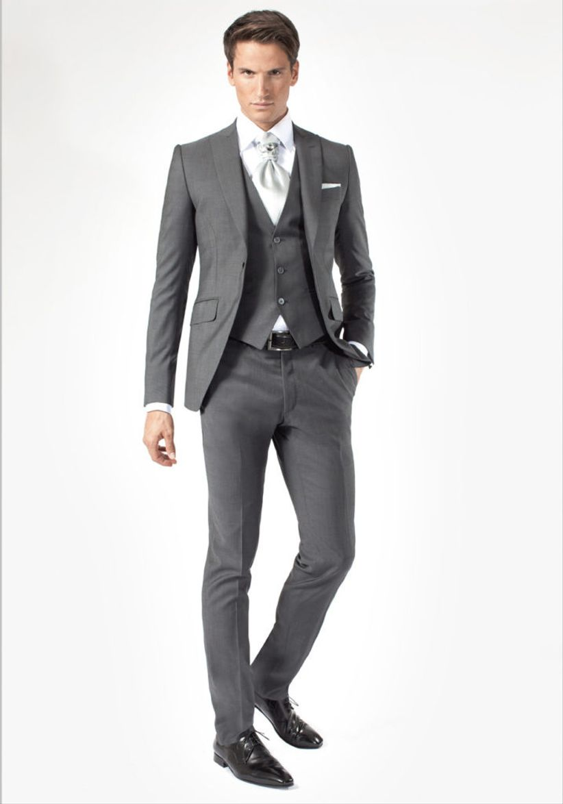 Costume homme mariage gris - la pijson pigram 9a26957800c
