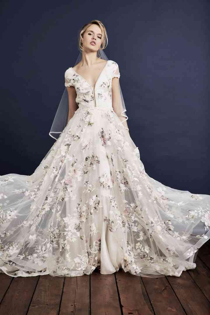 robe de mariage invite,robe rose imprime floral fleuri