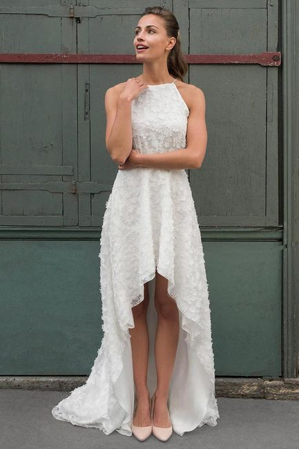 27 robes de mariée longues derrière et courtes