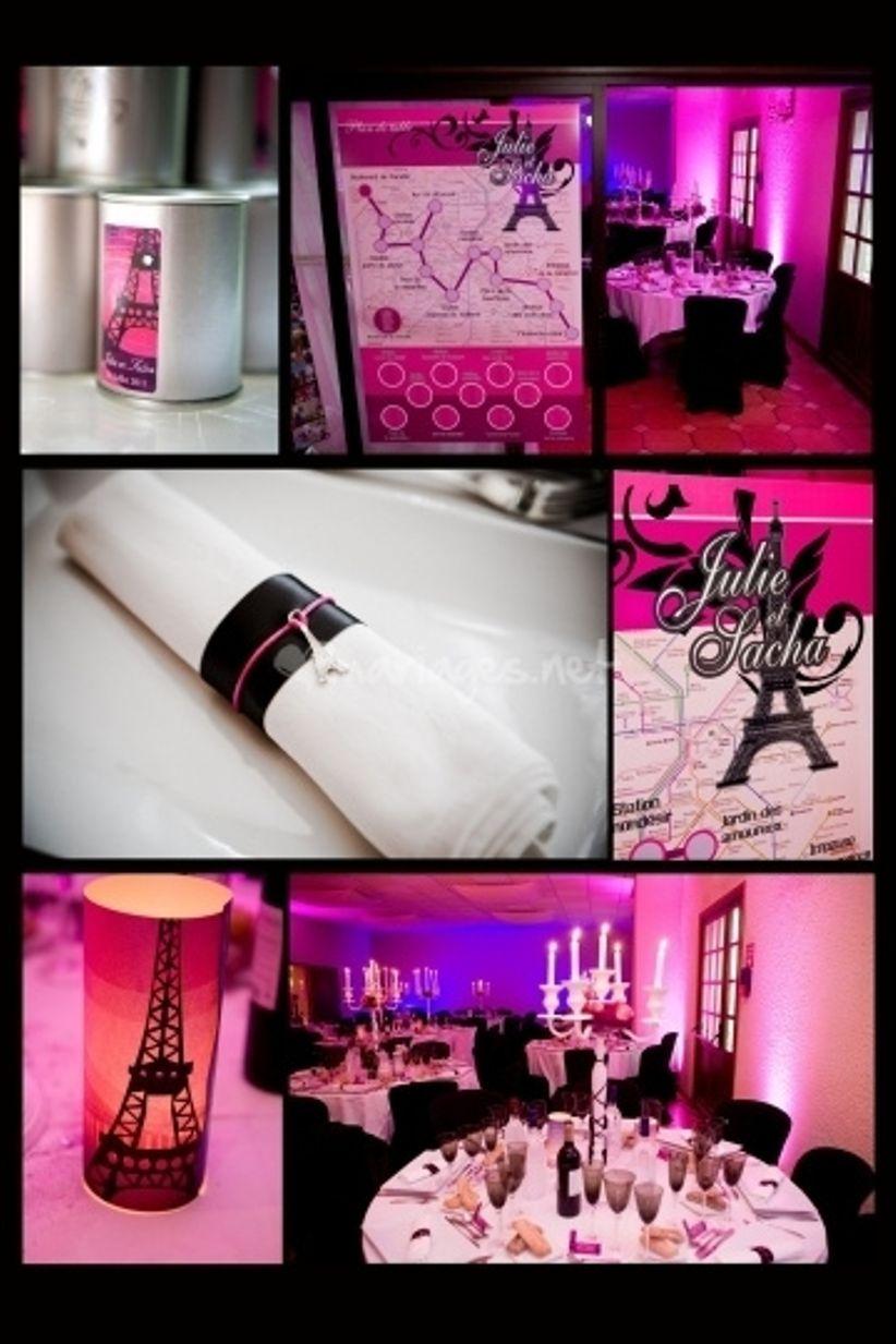 Un mariage sur le th me de paris - Decoration mariage paris ...