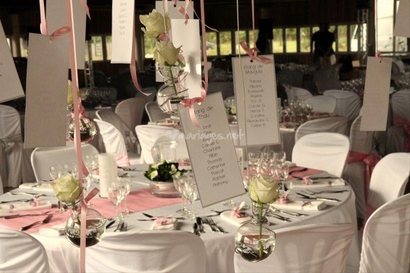13 mariage rose et blanc decoration de table MEMEs
