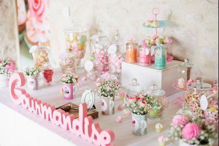 Id es d coration pour un mariage shabby chic - Decoration theme gourmandise ...
