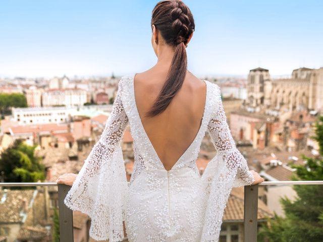 7 queues de cheval déclinées en coiffure de mariée
