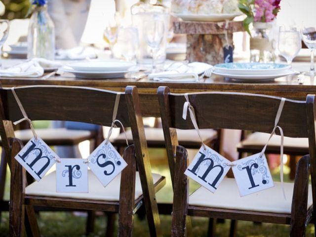 Comment décorer les chaises des mariés pour la réception ?