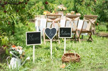 35 décorations avec ardoise à piocher pour votre mariage