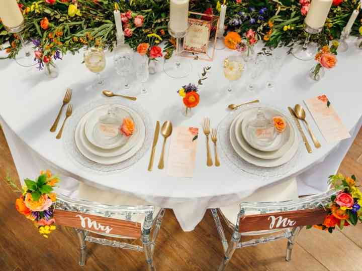 13 Decorations De Tables De Mariage Hautes En Couleur
