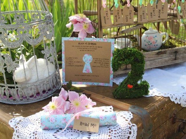 Alice au pays des merveilles : une décoration de mariage de rêve