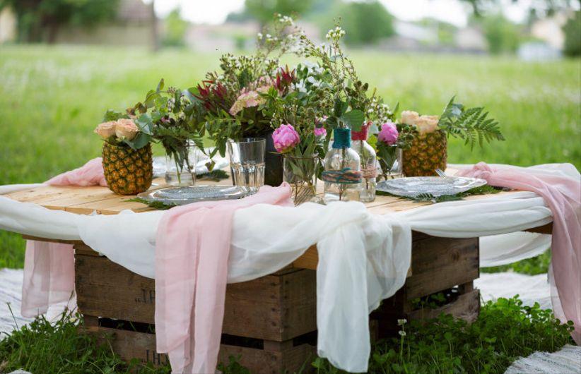 tropical chic tout pour un mariage la pointe de la tendance. Black Bedroom Furniture Sets. Home Design Ideas