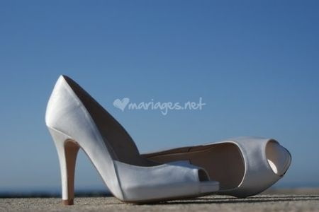 Des chaussures de mariée pour un mariage d'hiver