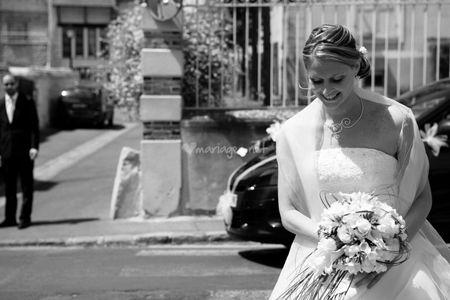Une étole pour la mariée