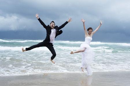 Photos de mariage � la plage