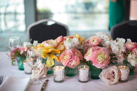 50 compositions florales shabby chic pour vos centres de table de mariage