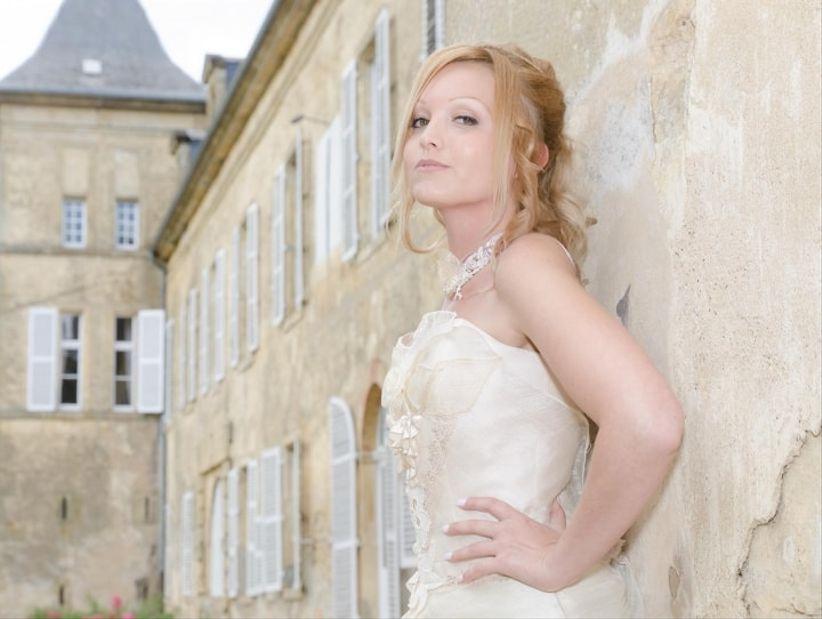 Belle coiffure de mariage image stock Image du tresse