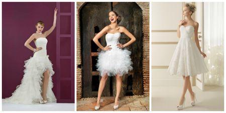 10 robes de mari�e courtes 2014