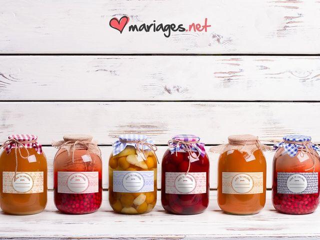 « L'amour en conserve » : étiquettes pour les pots de confiture à offrir à vos invités