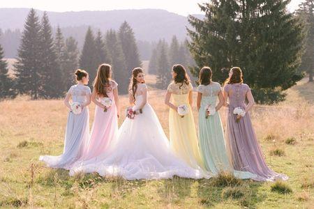8 bouquets pour les demoiselles d'honneur
