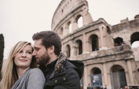 La séance photo d'engagement à Rome de Sara et Brando