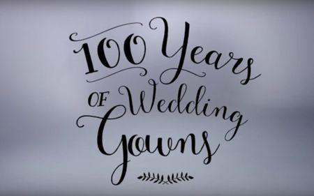 100 ans de robes de mari�e en 3 minutes