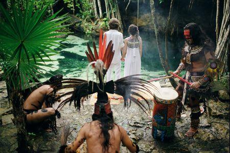 Mariage symbolique selon le rituel maya