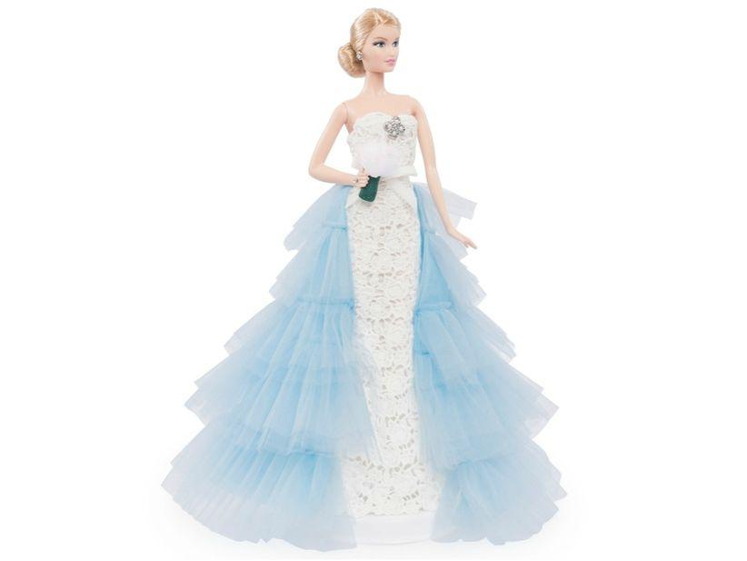 Oscar de la renta habille barbie en mari e - Barbie mariee ...