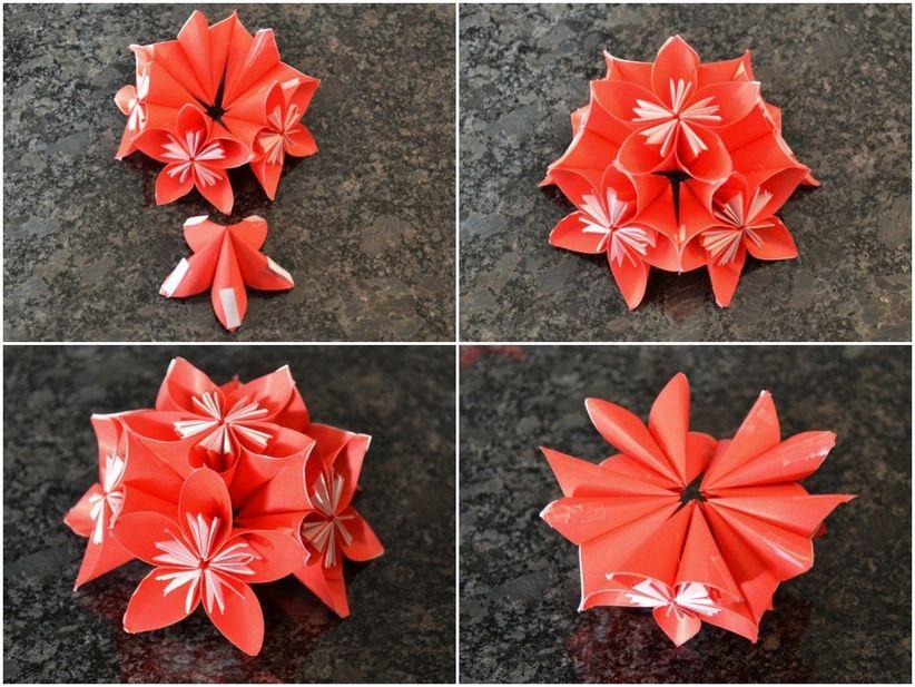fantastic bouquet fleur origami he07 humatraffin. Black Bedroom Furniture Sets. Home Design Ideas