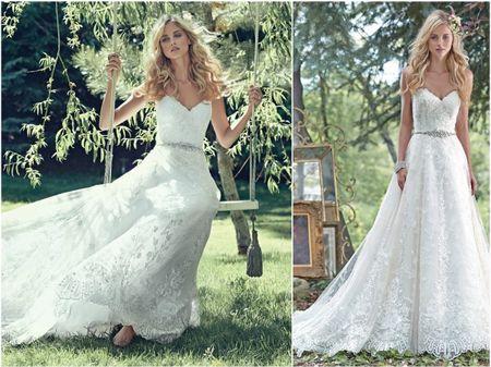 20 robes de mari�e avec d�collet� en c�ur