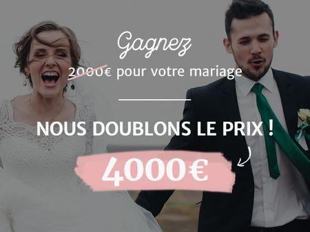 Tirage au sort deMariages.net : double montant à gagner, double bonheur!