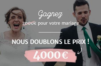 Tirage au sort de Mariages.net : double montant à gagner, double bonheur !