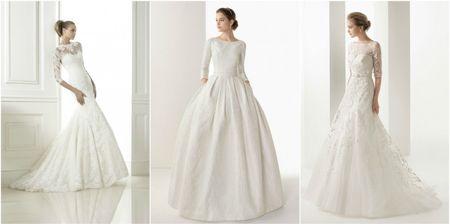 Robes de mariée avec manches trois-quarts