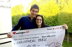36ème édition du tirage au sort : 2.000 euros pour les noces de Marie et Cédric !